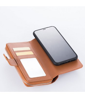 iPhone Xs Multifunctional Leather Wallet Detachable Case