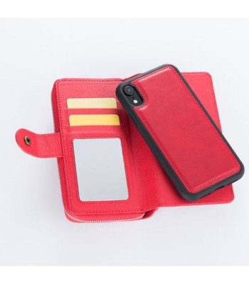 iPhone Xs Max Multifunctional Leather Wallet Detachable Case