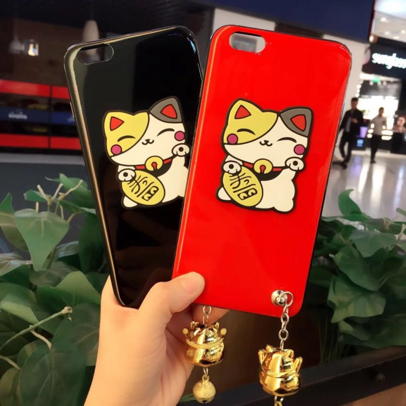 3D Cute Cat iPhone Case with Cat Pendant