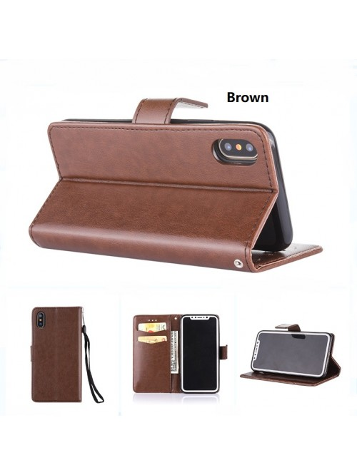 iPhone X Vintage Leather Folio Card Case