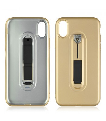 iPhone Xs Tough Slim Fit Case With Hidden Kickstand