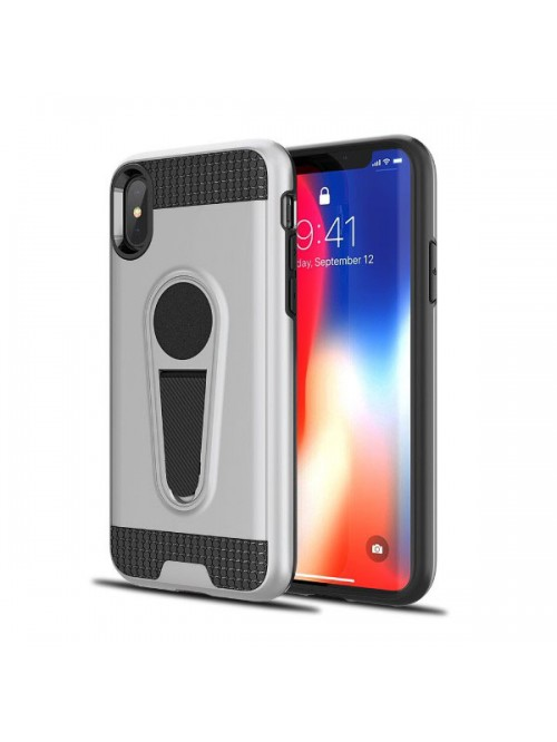 iPhone X Rugged Armor Magnetic Car Mount Case With Stand