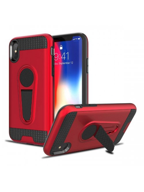 iPhone Xs Rugged Armor Magnetic Car Mount Case With Stand