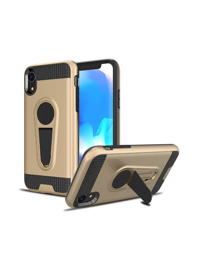 iPhone XR Rugged Armor Magnetic Car Mount Case With Stand