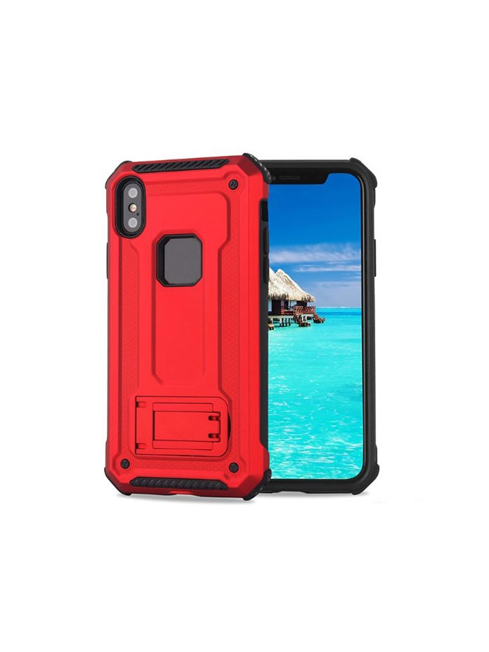 iPhone Xs Rugged Armor Protective Magnetic Case With Kickstand