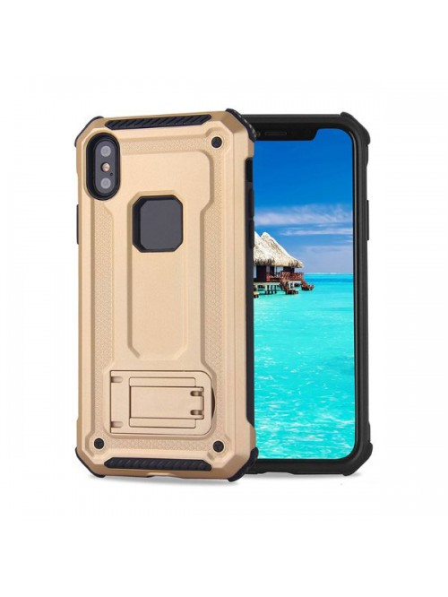 iPhone Xs Max Rugged Armor Protective Magnetic Case With Kickstand