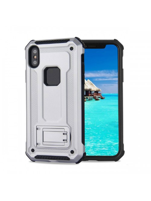 iPhone XR Rugged Armor Protective Magnetic Case With Kickstand