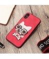 iPhone 3D Cartoon Embroidered Case - Puppy