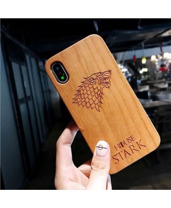 Wood Carved iPhone Protective Case - House Stark