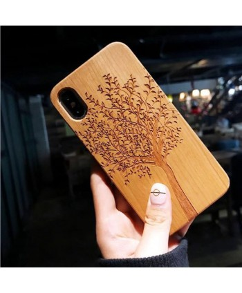 Wood Carved iPhone Protective Case - Tree