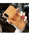Wood Carved iPhone Protective Case - King Crown