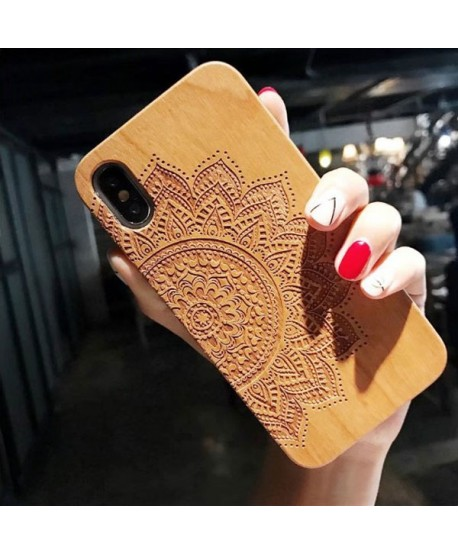 Wood Carved iPhone Protective Case - Mandara
