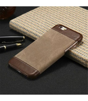 iPhone X Slim Color Block Leather Case