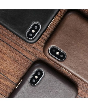 iPhone X Luxury Genuine Leather Case