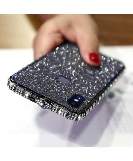 iPhone X Glitter Rhinestone Bumper Case