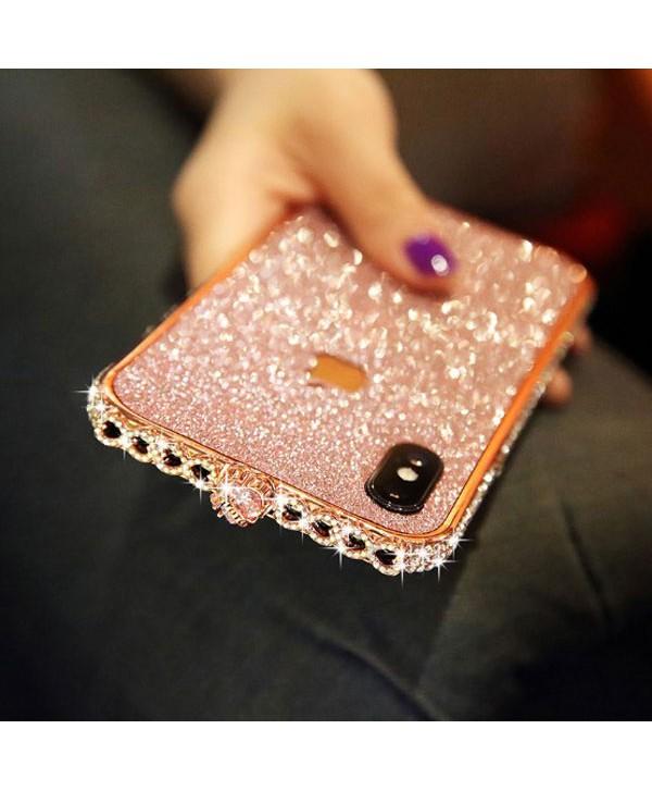 iPhone X Sparkle Rhinestone Bumper Case