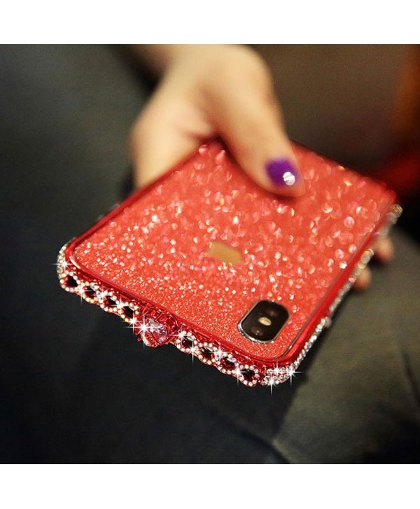 iPhone Xs Sparkle Rhinestone Bumper Case