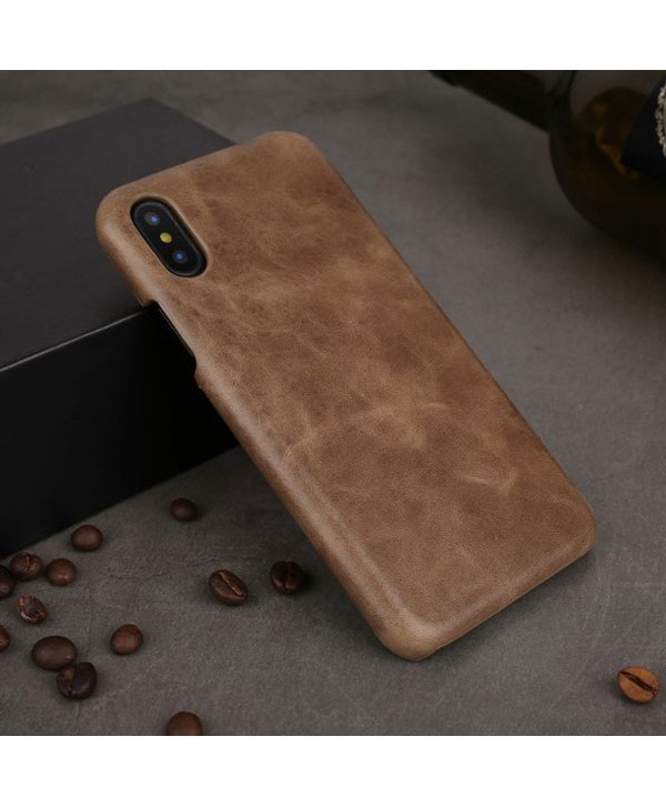 iPhone X Genuine Leather Business Case