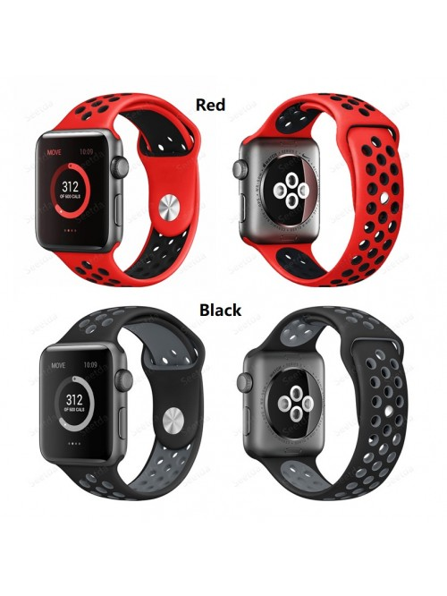 Apple iWatch Series 3/2/1 Silicone Sport Replacement Strap with Adjustable Buckle