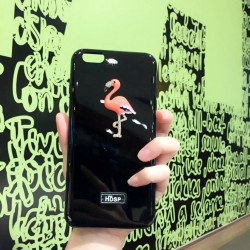 Elegant bling flamingo TPU iphone case c