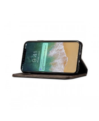iPhone XR Handcraft Leather Folio Case With Card Holder
