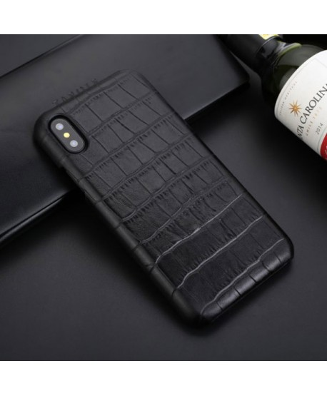iPhone X Crocodile Grain Genuine Leather Business Case