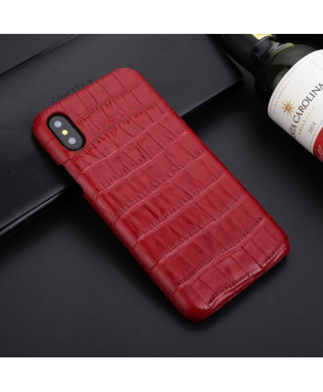 iPhone Xs Max Crocodile Grain Genuine Leather Business Case