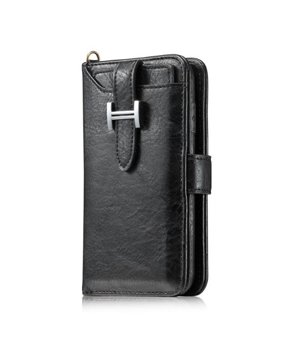 iPhone Xs Magnetic Detachable Wallet Leather Case