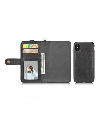 iPhone Xs Magnetic Detachable Wallet Leather Case