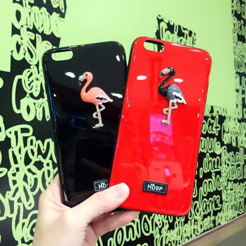 Elegant bling flamingo TPU iphone case