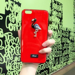 Elegant bling flamingo TPU iphone case d
