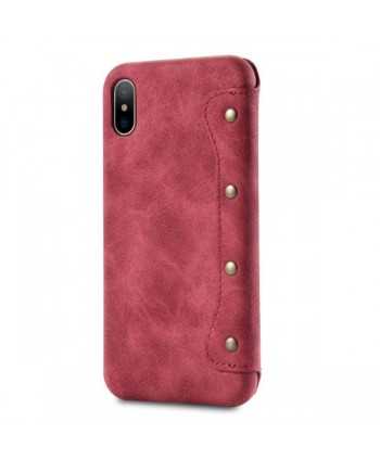 iPhone Xs Handcrafted Leather Book Style Flip Case