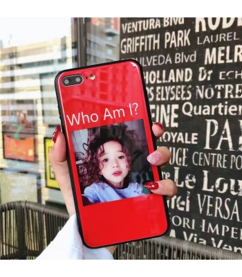 "iPhone X Glossy Blu-ray Cute Girl ""Who Am I"" Case"