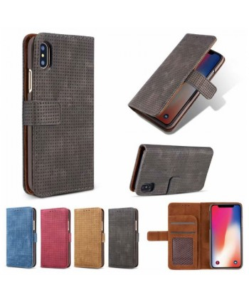 iPhone Xs Leather Folio Book Style Case