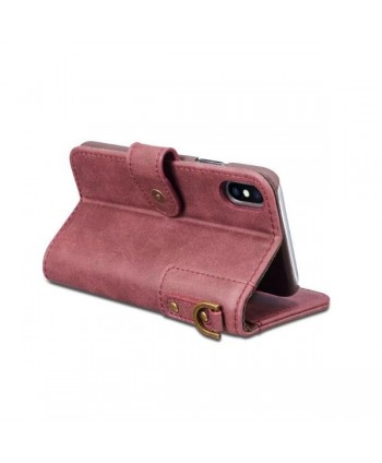 Vintage Leather Flip Case For iPhone X