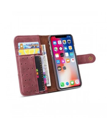 Vintage Leather Flip Case For iPhone XR