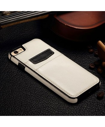 iPhone Leather Card Back Case - White