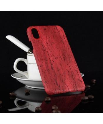 iPhone Xs Slim Wood Grain Leather Case