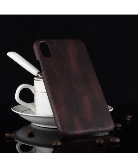 iPhone XR Slim Wood Grain Leather Case