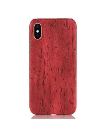iPhone XR Slim Wood Grain Leather Case