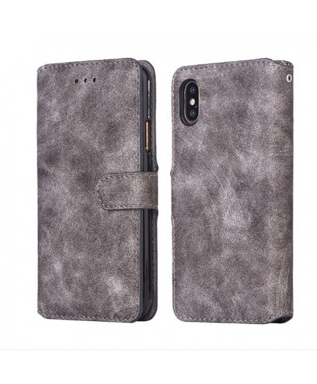 iPhone Xs Matte Leather Folio Card Case