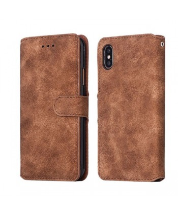 iPhone Xs Max Matte Leather Folio Card Case