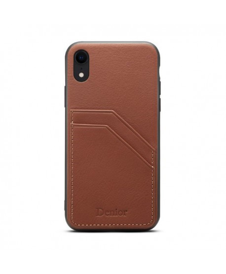 new style 6f251 f6e41 iPhone XR Leather Back Case With Card Holder
