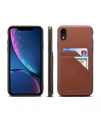 iPhone XR Leather Back Case With Card Holder