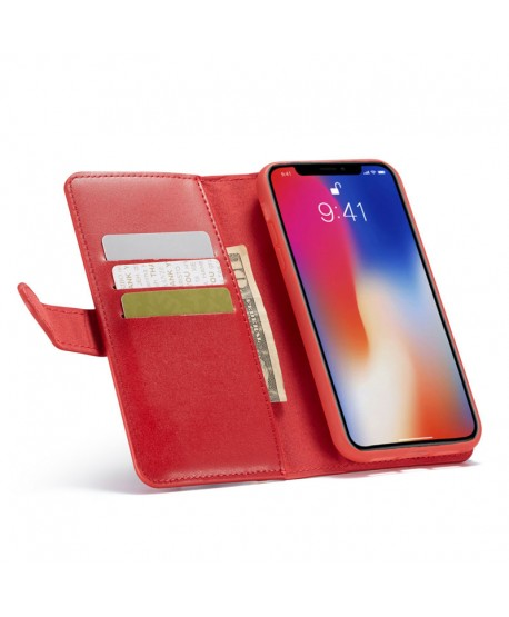 iPhone Xs Max Magnetic Detachable Leather Wallet Case