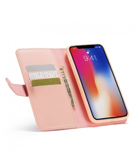 iPhone XR Magnetic Detachable Leather Wallet Case
