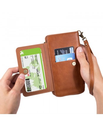 iPhone Magnetic Detachable Leather Wallet Case