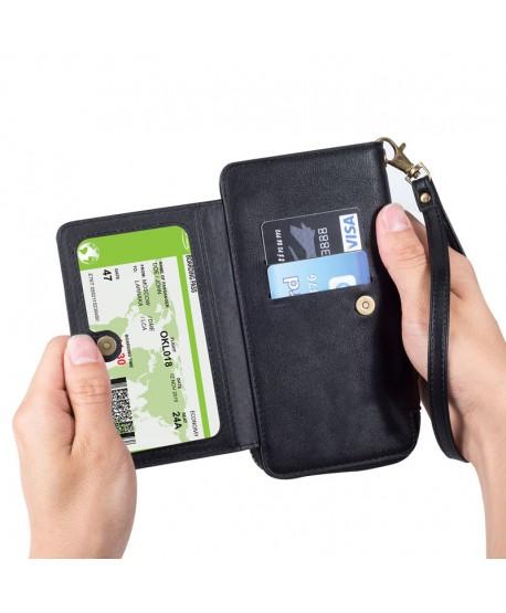 iPhone Xs Magnetic Detachable Leather Wallet Case