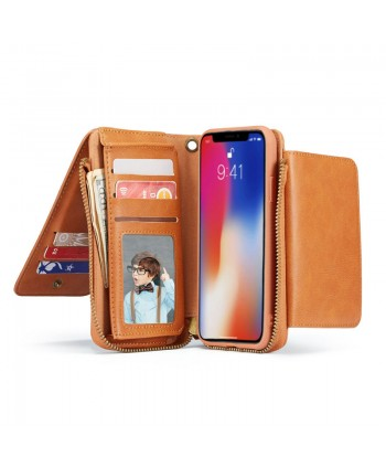 iPhone Magnetic Detachable Leather Wallet Case
