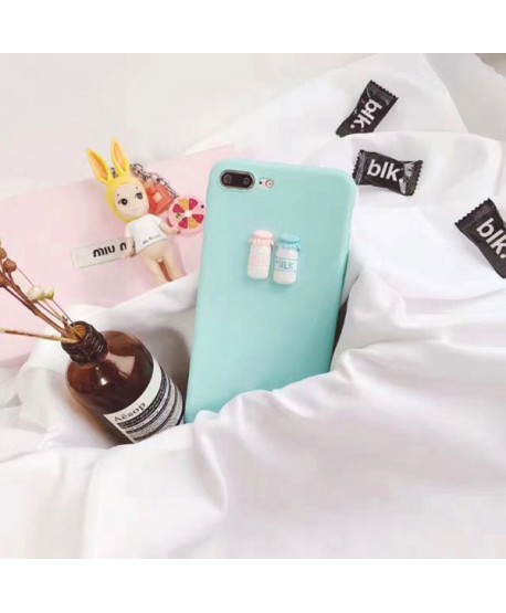 3D Milk Bottles iPhone Protective Case